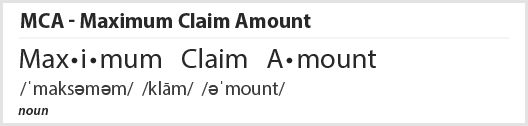 Maximum Claim Amount Definition